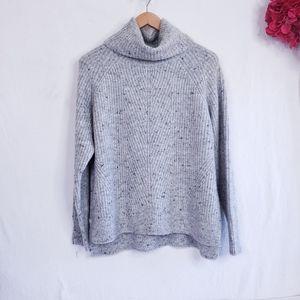 Madewell Cowl Turtleneck Heather Gray Sweater